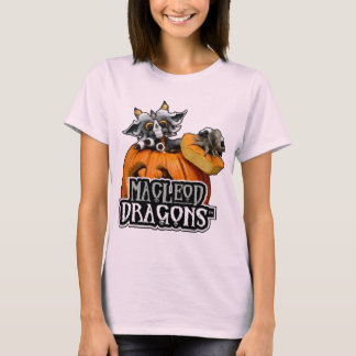 淡いピンクのMDのカボチャドラゴンHanes T Tシャツ