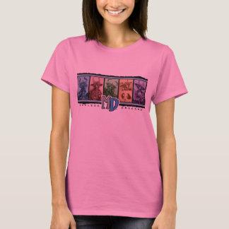淡いピンクのMDの人種差別のHanesの長袖T Tシャツ