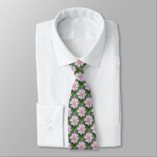 淡いピンク及び緑宇宙- --- エコーのプリント- ネクタイ