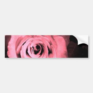 淡いピンク-赤いバラ バンパーステッカー