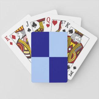 淡いブルーおよび濃紺の長方形 トランプ