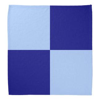 淡いブルーおよび濃紺の長方形 バンダナ