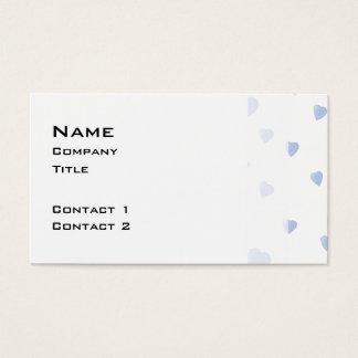 淡いブルーおよび白い愛ハートパターン 名刺