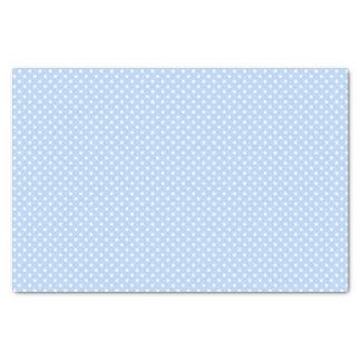 淡いブルーおよび白い水玉模様パターン 薄葉紙