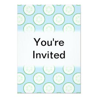 淡いブルーおよび緑のきゅうりパターン カード