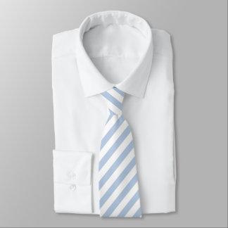 淡いブルーか白くストライプのなタイ ネクタイ