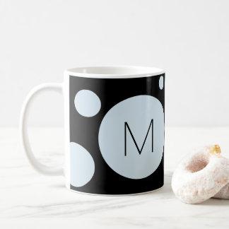 淡いブルーか黒い点のカスタムのマグ コーヒーマグカップ