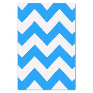 淡いブルーのはっきりしたでモダンなシェブロン 薄葉紙