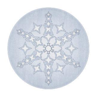 淡いブルーのまな板の水晶雪片 カッティングボード