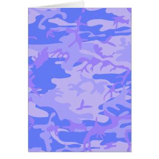 淡いブルーのカムフラージュのパターン・カード カード