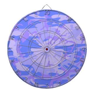淡いブルーのカムフラージュパターン投げ矢板 ダーツボード