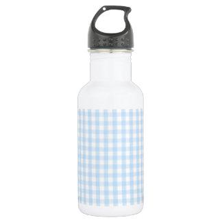 淡いブルーのギンガムパターン ウォーターボトル