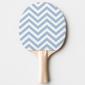 淡いブルーのグランジな織り目加工のシェブロン 卓球ラケット