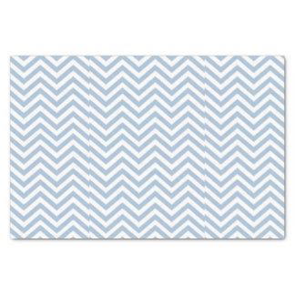 淡いブルーのグランジな織り目加工のシェブロン 薄葉紙