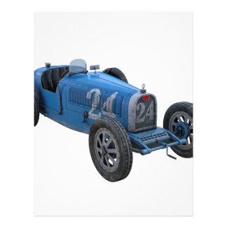 淡いブルーのグランプリのレースカー レターヘッド