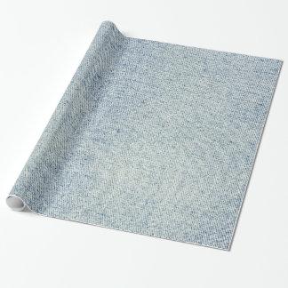 淡いブルーのデニムのジーンズの質 ラッピングペーパー