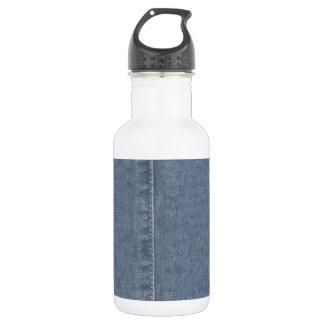 淡いブルーのデニムの継ぎ目 ウォーターボトル