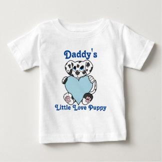 淡いブルーのハートのバレンタインデーのダルマチア人 ベビーTシャツ