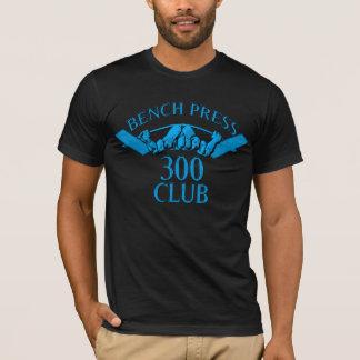 淡いブルーのベンチプレス300クラブ Tシャツ