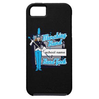 淡いブルーのマーチングバンドのギーク iPhone SE/5/5s ケース