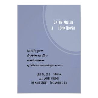 淡いブルーのモダンな結婚式 カード