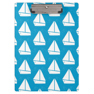 淡いブルーのヨットパターン クリップボード