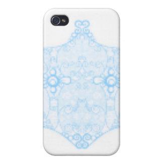 淡いブルーのレースのストリップ iPhone 4/4S COVER