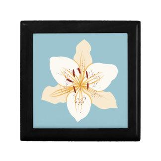 淡いブルーのワスレグサのイラストラティブデザイン ギフトボックス