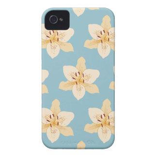 淡いブルーのワスレグサイラストラティブLg Ptn Case-Mate iPhone 4 ケース