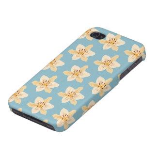 淡いブルーのワスレグサイラストラティブPtn iPhone 4/4S Case