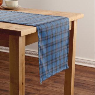 淡いブルーの一族エリオットおよびブラウンのスコットランド人のタータンチェック ショートテーブルランナー
