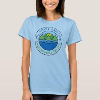 淡いブルーの女性のTシャツ Tシャツ