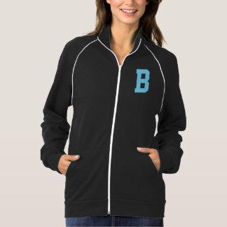 淡いブルーの女性ジャケットの手紙Bのモノグラム ジャケット