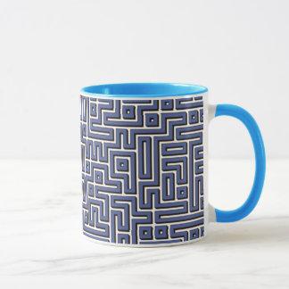 淡いブルーの当惑 マグカップ