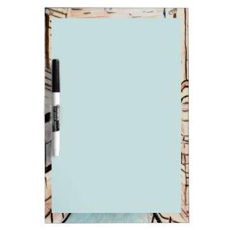 淡いブルーの書く区域のホワイトボード ホワイトボード