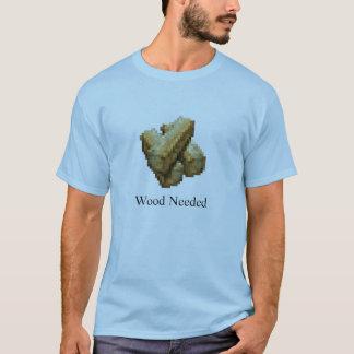 淡いブルーの本拠地-木製の必要- Tシャツ
