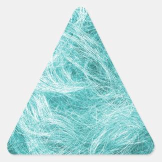 淡いブルーの毛皮 三角形シール