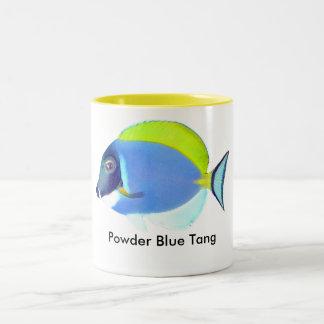 淡いブルーの独特の味のマグ ツートーンマグカップ