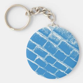 淡いブルーの玉石 キーホルダー