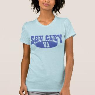淡いブルーの球場- Tシャツ