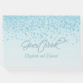 淡いブルーの結婚式の来客名簿 ゲストブック