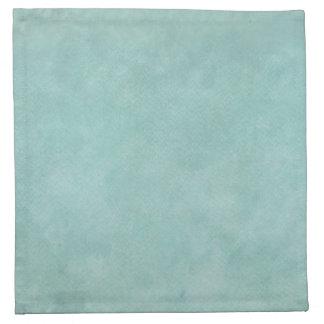 淡いブルーの緑の水彩画の名前入りなテンプレート ナプキンクロス