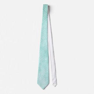 淡いブルーの緑の水彩画の紙の背景のブランク オリジナルネクタイ