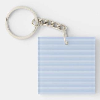 淡いブルーの縞 キーホルダー