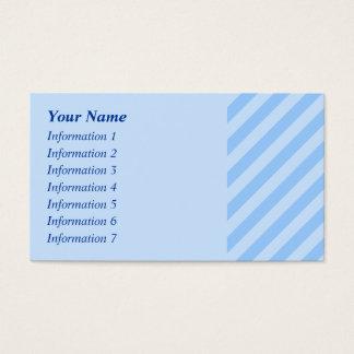 淡いブルーの縞 名刺