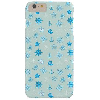 淡いブルーの航海のなパターン BARELY THERE iPhone 6 PLUS ケース