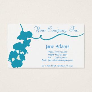 淡いブルーの花の名刺 名刺