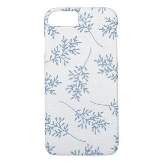 淡いブルーの葉: iPhone 7の場合 iPhone 8/7ケース