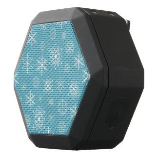 淡いブルーの雪片のクリスマスのデザイン ブラックBluetoothスピーカー