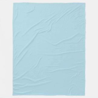淡いブルーの(軽いパステル調の空色)無地 フリースブランケット